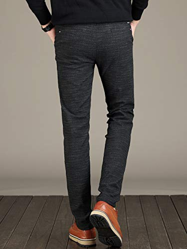 VEGORRS Men's Straight-fit Washed Chino Slim Tapered Fit Pants