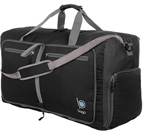 "Bago 80L Duffle Bag for Women & Men - 27"" Travel Bag Large Foldable Duffel bag"