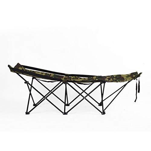 LIN HE SHOP Lit Simple Se Pliant de Bureau, lit de Camping Pliable portatif de Camouflage, pour Faire la Sieste Dormir Le Repos provisoire de Sommeil extérieur