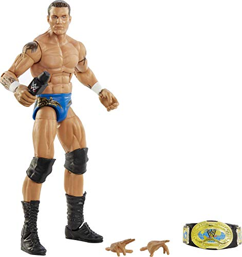 WWE Randy Orton Fan TakeOver 6-in Elite Action Figure with Fan-voted Gear & Accessories, 6-in Posable Collectible Gift for WWE Fans Ages 8 Years Old & Up