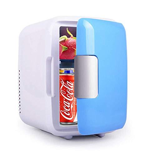 FZYE Mini refrigerador para automóvil, refrigerador de 4 litros y Calentador, 12 V para refrigerador de cosméticos para automóvil, portátil y silencioso, refrigerador Personal Compacto