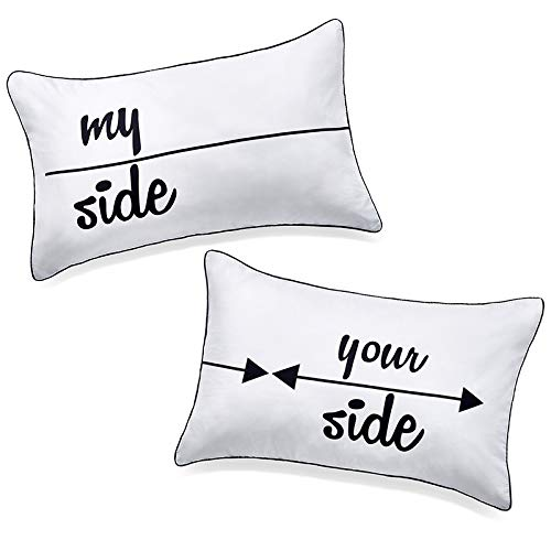 DasyFly My Side and Your Side Couples Pillowcases,His Hers Pillow...