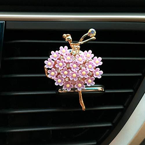 Auto-Accessoires Voor Dames, Legering Ballet Girl Auto-Vent Decoratieve Clip Massieve Balsem Geurige Parfum Clip Luchtverfrisser Diffuser