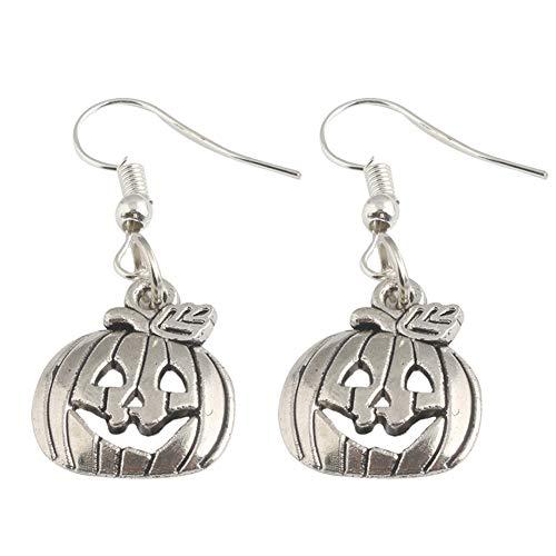Monbedos 1 Stück Halloween lustige Lippen Kürbis Design Lange Ohrringe Ohren Halloween Schmuck für Frauen (Silber)