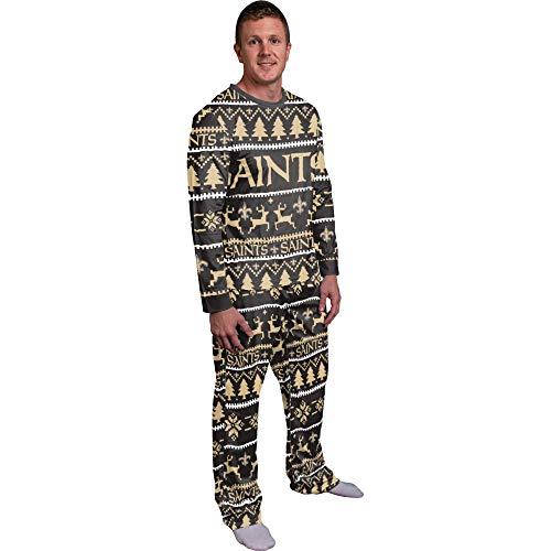 FOCO NFL Winter Xmas Pyjama Schlafanzug - New Orleans Saints - XL