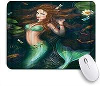 ZOMOY マウスパッド 個性的 おしゃれ 柔軟 かわいい ゴム製裏面 ゲーミングマウスパッド PC ノートパソコン オフィス用 デスクマット 滑り止め 耐久性が良い おもしろいパターン (美的恋と蓮の人魚)