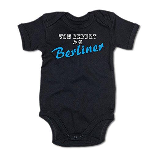 G-graphics Von Geburt an Berliner Baby-Body 250.0101 (6-12 Monate, schwarz)