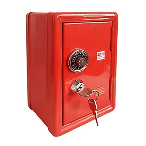FNMYH Creative Piggy Bank Password Money Box Cash Monedas Caja de Ahorro para niños o Oficina en casa, etc. (2 PCS) (Color : Red)