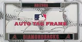 Rico Industries Arizona Diamondbacks Chrome License Plate Frame Free Screw Caps with This Frame