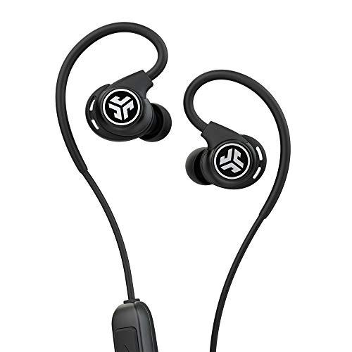Jlab Audio Fit Sport 3 Bluetooth Kopfhörer In Ear - Wireless Ohrhörer mit flexiblen Memory-Wire-Ohrhaken, IP55-Schweißbeständigkeit, Geräuschisolierung und benutzerdefiniertem EQ3-Sound, Schwarz