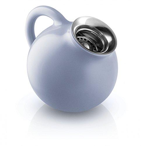 EVA SOLO 502762 Milchkännchen, 300 ml, Glasiertes Steinzeug, 100% Tropffrei, Porzellan, Nordic Blau, 12,8 x 10,6 x 10,6 cm