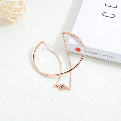 XCLXJ koper vergulde 18 K gouden dames armband gepersonaliseerde creatieve diamant ogen armbanden met horloge accessoires