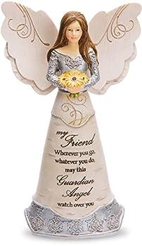 Pavilion Gift Company Elements Friend Guardian Angel Figurine 6  Yellow