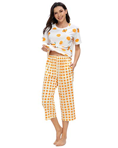 GOSO Schlafanzug Damen Pyjama Set Zweiteilige Nachtwäsche Langarm Hausanzug Top und Hose Lady Jogging Stil Soft Lounge Sets