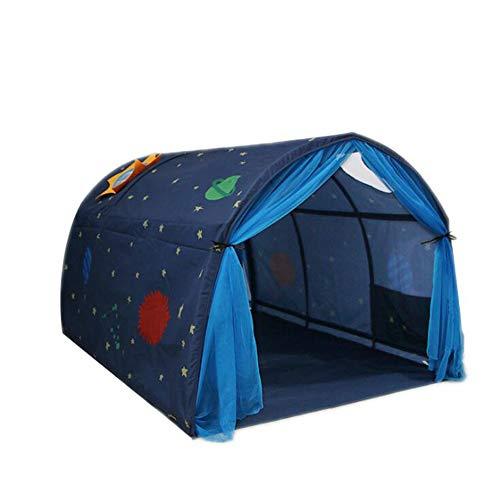 NanXi Kinderspielbett Zelt Kinder Tunnel für 90-100 cm in Breite Loft Etagenbett für Kinder Kleinkind-Kind-Bett-Spiel-Haus-Jungen-Mädchen Safe House Tunnelzelt,Bluewithmosquitonet