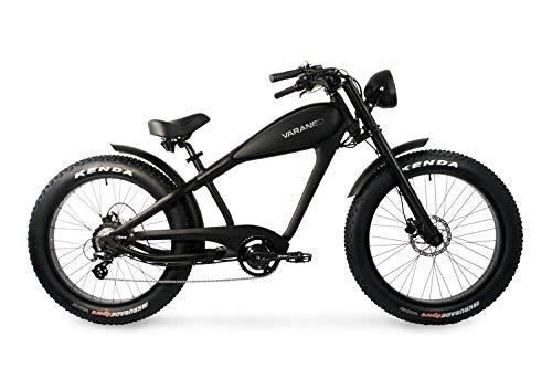 Varaneo E-Bike Café Racer Retro-Look 250W 25 km/h 626Wh Pedelec 7 Ganganische Scheibenbremse Kenda Bereifung (Schwarz matt)