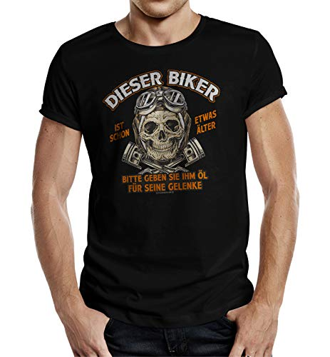 Biker T-Shirt für ältere Motorradfahrer XL Nr.6337