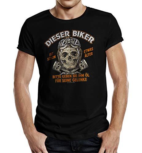 Biker T-Shirt für ältere Motorradfahrer M Nr.6337