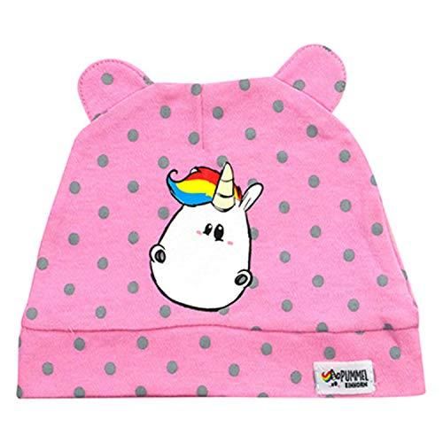 Pummeleinhorn Pummel & Friends Baby Kleinkind Mädchen Mütze mit Öhrchen, rosa, One Size