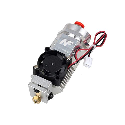 MZHE 3D Printer Parts Extruder 3 In 1 Hotend Fusion Multi-color Nozzle 1.75mm NF THC-01 Three Colors Switching Metal 12V/24V Heater Suitable for most printers, making your printer q