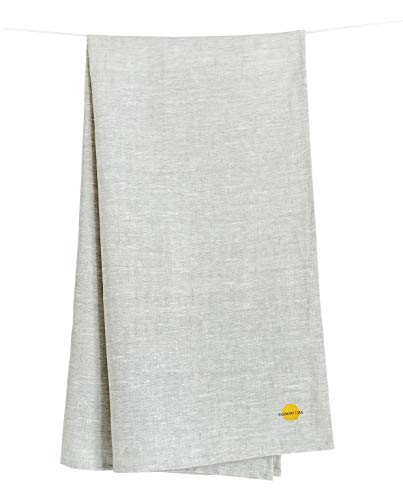 "Natural Linen 100% Flax Bath Towel. Best quick dry lightweight Towel. Grey 28"" X 58""."
