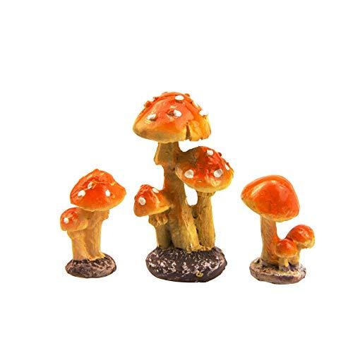 ODDIER 3PCS Resin Mushroom,Fairy Ga…