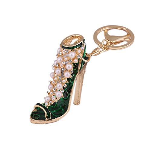 Forbestest Llavero zapato del tacón alto Forma pendiente del bolso del coche anillo de la hebilla clave ornamentos colgantes Bolsa de hombro