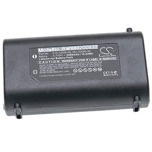vhbw batería Compatible con Garmin GPSMap 276Cx Localizador GPS (5200mAh, 3.7V, Li-Ion)
