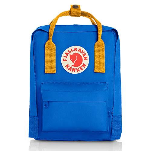 Kanken Niños, Mochila Tipo Casual, 29 cm, 7 litros, UN Blue-Warm Yellow