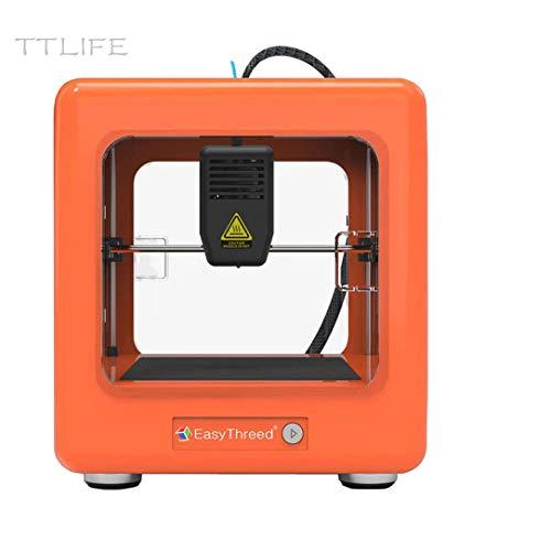 TTLIFE Mini stampante 3D Nano 90x110x110mm Stampante portatile completamente assemblata con software di affettatura Stampa una chiave per l'istruzione domestica e regali puzzle per bambini