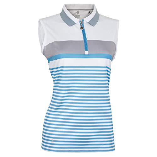 Island Green Damen IGLTS1925 Golf Poloshirt, Blue Cadet/Silver Grey, 44