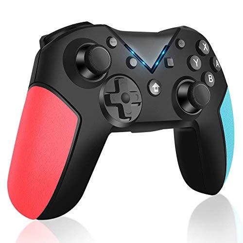 JINQII Controlador Bluetooth sem fio para Nintendo Switch Pro Controlador Gamepad para Nintendo Switch Console, Motores duplos, Sensor Giroscópio de 6 Eixos