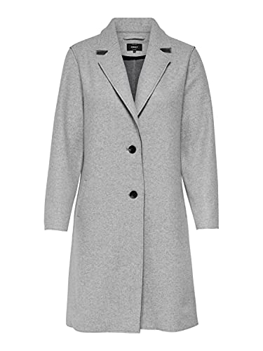 Only ONLCARRIE Bonded Coat OTW Noos Abrigo, Light Grey Melange, S para Mujer