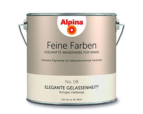 Alpina 2,5 L. Feine Farben, Farbwahl, Edelmatte Wandfarbe für Innen (No.8 Elegante Gelassenheit - Ru