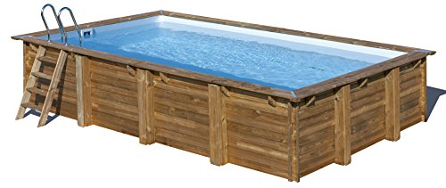 Piscina de madera GRE rectangular Evora Wooden Pool GRE 790094