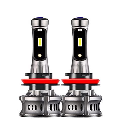 2 unids H4 H7 H1 H8 H10 H1 H3 9005 HB3 9006 HB4 5202 9012 Coche LED Bombillas de Faro HI-LO Beam Auto Fuera DE Fuera DE Fijo (Emitting Color : 6000K Cold White, Socket Type : H3 No DRL Light)