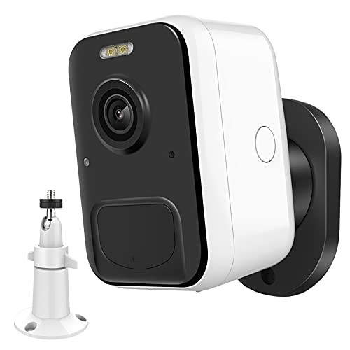 MPW Cámara Vigilancia WiFi Exterior Inalámbrica,9600mAh Batería 1080P Cámara IP con 2 Soportes,Cámara Seguridad Impermeable IP65,Detección de Movimiento AI,Visión Nocturna,Audio Bidireccional
