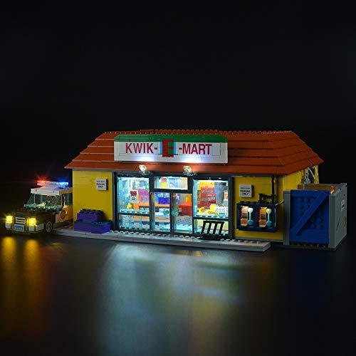 LIGHTAILING Licht-Set Für (Simpsons Kwik-E-Mart) Modell - LED Licht-Set Kompatibel Mit Lego 71016(Modell Nicht Enthalten)