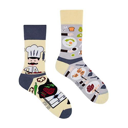 Spox Sox Casual Unisex - mehrfarbige, bunte Socken für Individualisten, Gr. 44-46, Koch