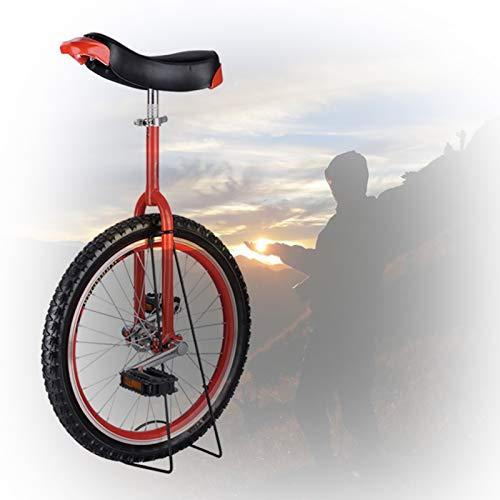 GAOYUY Kinder-Einrad, 16/18/20/24 Zoll Rahmen rutschfeste Butyl Mountain Reifen Balance Radsportübung Radsport Im Freien Einfach Zu Montieren (Color : Red, Size : 18 inch)