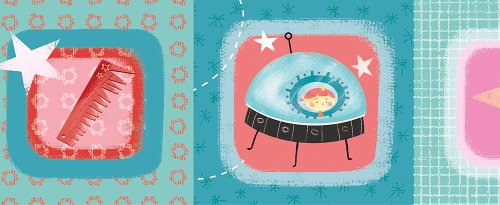 Wandpiraten 4260284290320 behang rand prinses Astro, 11,65 x 450 cm, blauw