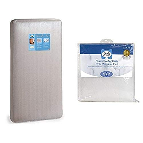 Sealy Baby Firm Rest Crib Mattress and Stain Protection Crib Mattress Pad