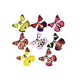 YeahiBaby Fliegender Schmetterling Bunt Magie Magic Flatternde Kinder Schmetterling Butterfly Kinder Spielzeug 12 Stücke (Gelegentliche Farbe) -