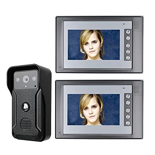 DNAMAZ Portero Sistema de intercomunicador de teléfono de Video Video Video Video Video de Video LCD con cámara IR al Aire Libre Impermeable automatico (Color : G803BQA12)