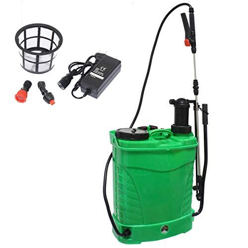 Pulverizador Eléctrico 16 litros Batería + Manual [HÍBRIDO] Sulfatador Fumigador Automático Eléctrico con Mochila - Jardín, Desinfección, Limpieza