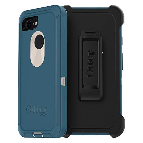 OtterBox Defender Series SCREENLESS Edition Case for Google Pixel 3 - Retail Packaging - Big SUR (Pale Beige/Corsair)