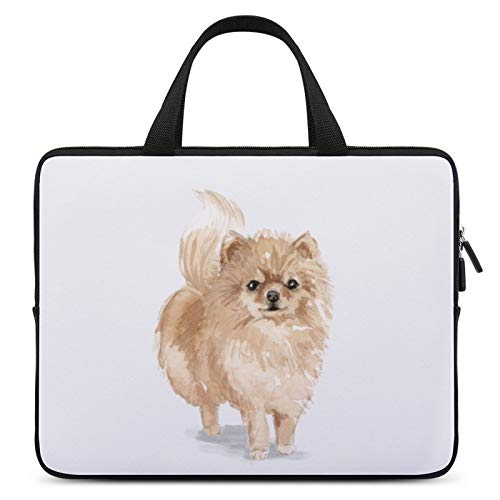 Universal Laptop Computer Tablet,Case,Cover for Apple/MacBook/HP/Acer/Asus/Dell/Lenovo/Samsung,Laptop Sleeve,Color for Mammal Carnivore Companion Dog Spitz,13inch