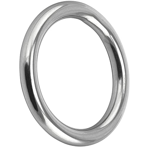 FASTON Ring 4x25 mm geschweißt, poliert, Edelstahl A4 (V4A) (1 Stück) Metallring O-Ring Edelstahlringe Stahlring
