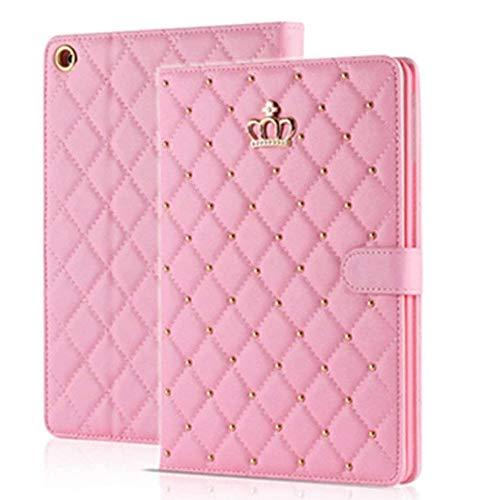 Topwin iPad 2/3/4 Case,Crown Design Bling Diamond Cute Elegant Premium PU Leather Smart Auto Sleep/Wake Stand Case for Apple for Apple iPad 2, iPad 3 & iPad 4th Gen with Retina Display (Pink)