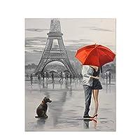 数字油絵 大人のための数字で塗る子供たち手塗りの通り風光明媚な油絵家の装飾アクリル絵画 (Color : 991225, Size(cm) : 50x65cm no frame)